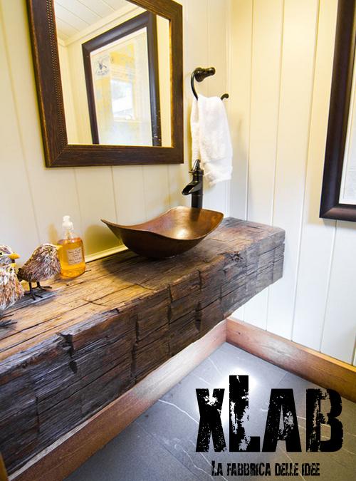 Bagno stile rustico 20 idee per un bellissimo bagno rustico for Piani di casa in stile acadiano