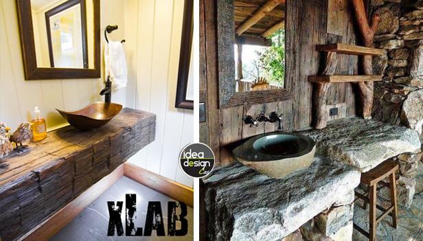 Bagno Rustico Realizzato Pietra E Legno Rustic Design : Bagno stile rustico idee per un bellissimo