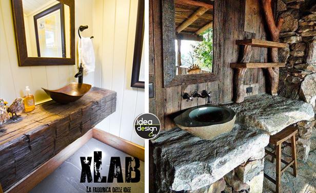 Bagno stile rustico 20 idee per un bellissimo bagno rustico for Idea design casa