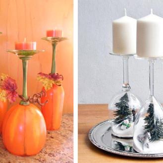 Fioriera creativa con pneumatici 20 idee - Decorare bicchieri di vetro ...
