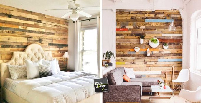 Rivestire una parete coi pallet 17 idee da cui trarre ispirazione - Parete divisoria in legno fai da te ...