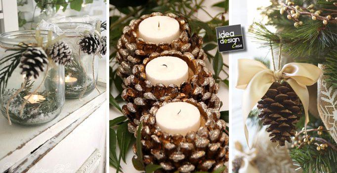 Decorare con le pigne ecco 23 idee creative da cui - Decorazioni natalizie con le pigne ...