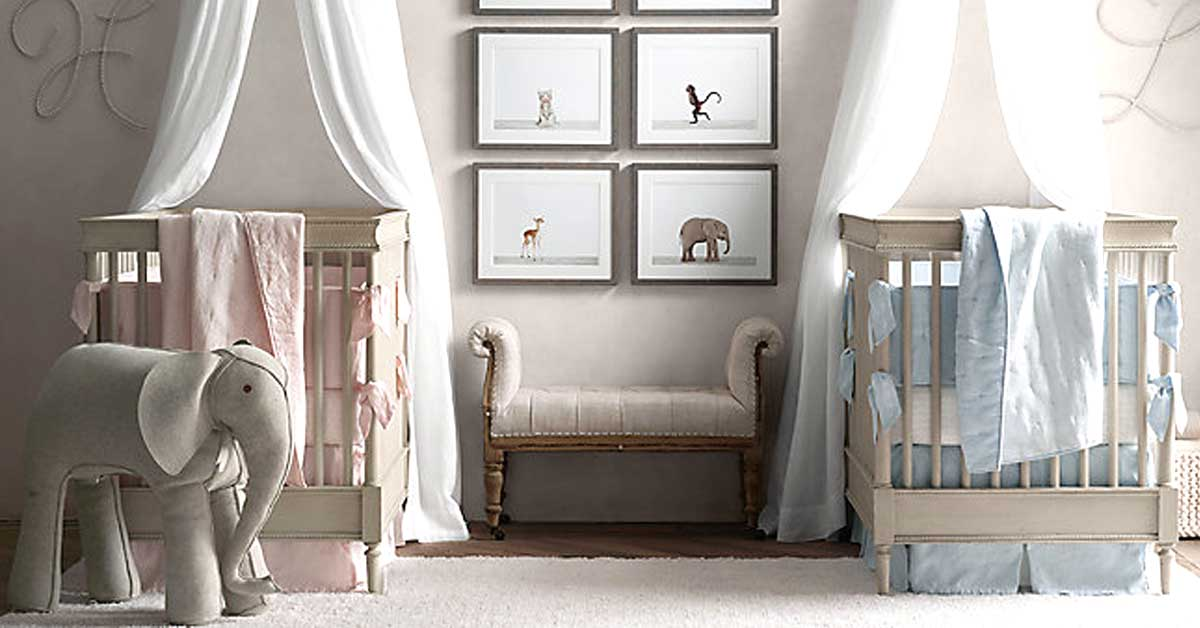Cameretta gemelli 10 idee per decorare la camera dei gemelli - Idea design casa ...