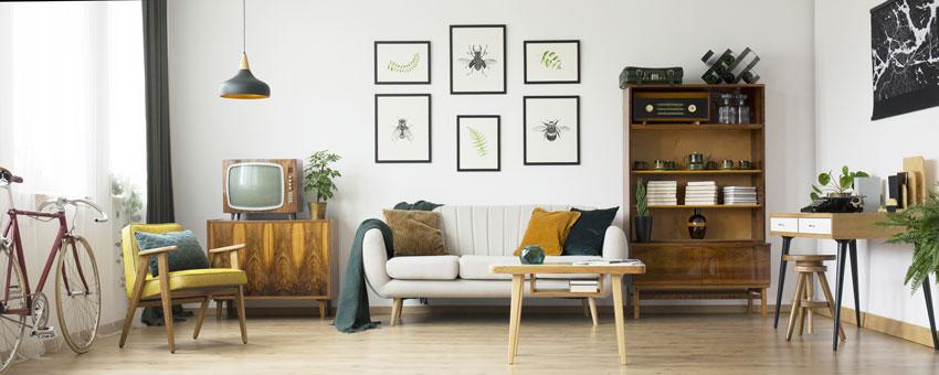 Soggiorno stile vintage 17 idee da cui trarre ispirazione for Mobili salotto design
