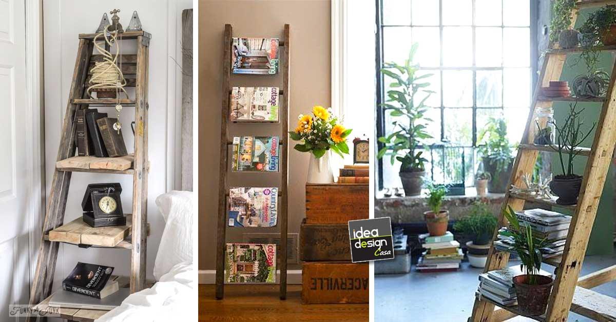 Idee Creative Casa : Decorare casa con una vecchia scala idee creative da scoprire