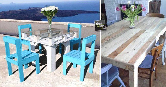 Costruire Un Tavolo Da Giardino In Legno.Tavolo Fai Da Te Con Pallet Ecco 20 Tavoli A Cui Ispirarsi