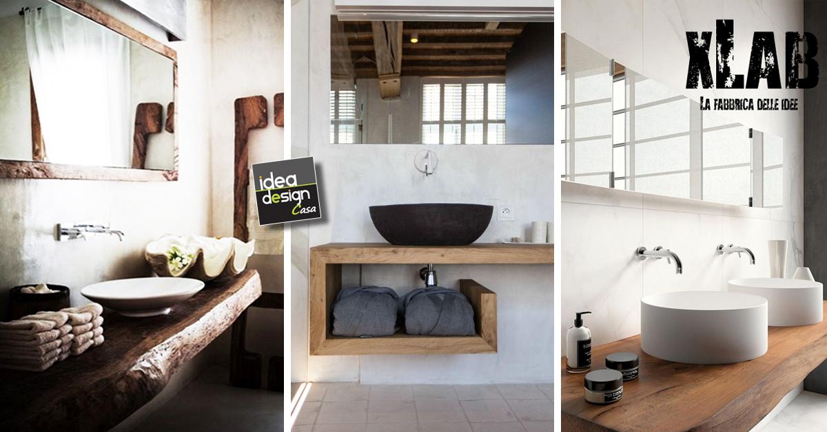 Mobile in legno massello per il bagno ecco 10 modelli da - Legno per bagno ...