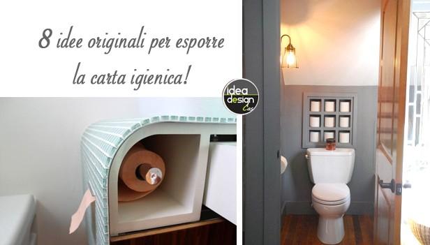idee originali per sistemare la carta igienica