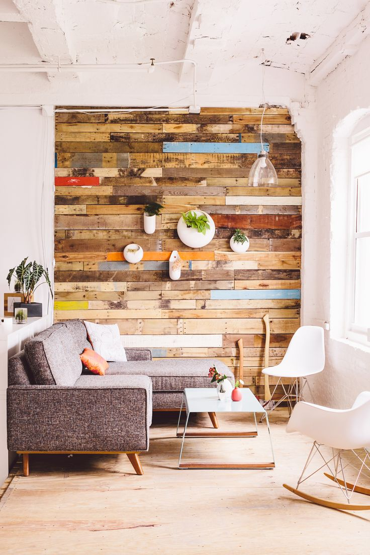 Rivestire una parete coi pallet: 17 idee da copiare!