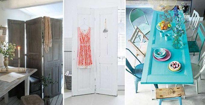 Riciclare vecchie porte in stile shabby chic e non solo