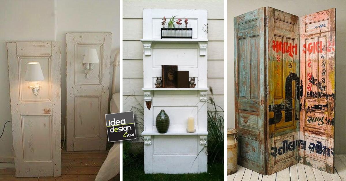 Riciclare vecchie porte in stile shabby chic e non solo - Porte vecchie in legno ...