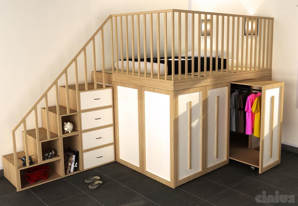 Letto salvaspazio 6 idee per ottimizzare lo spazio in camera tua - Mobili letto salvaspazio ...
