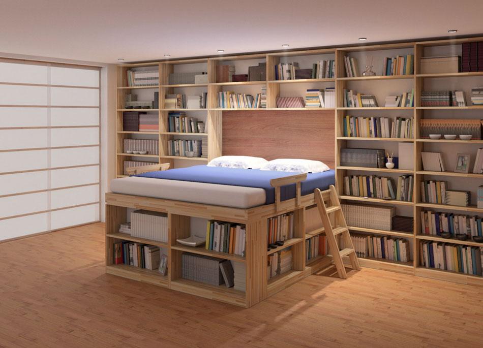 Letto salvaspazio 6 idee per ottimizzare lo spazio in - Come far impazzire un ragazzo a letto ...