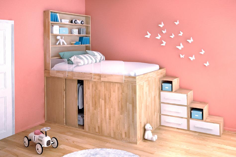 Letto salvaspazio 6 idee per ottimizzare lo spazio in - Idea camera da letto ...
