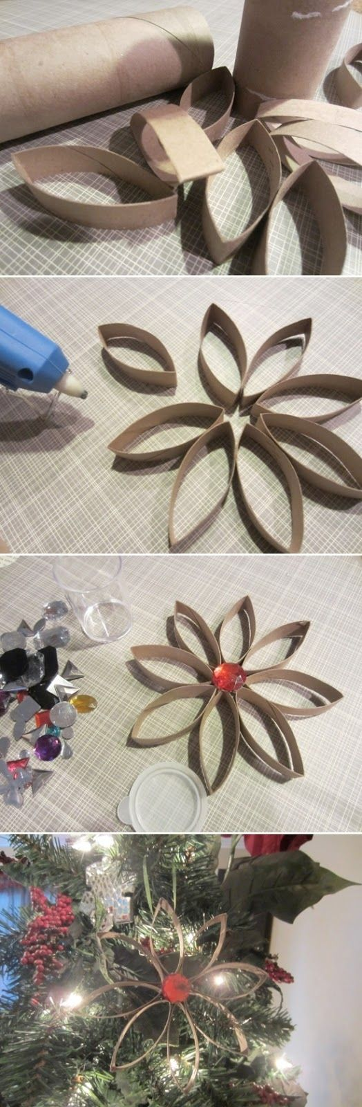 decorazione natale rotoli di carta igienica 4