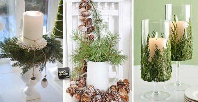 Decorare con ramo di pino 29 idee fai da te da vedere - Decorazioni rami secchi ...