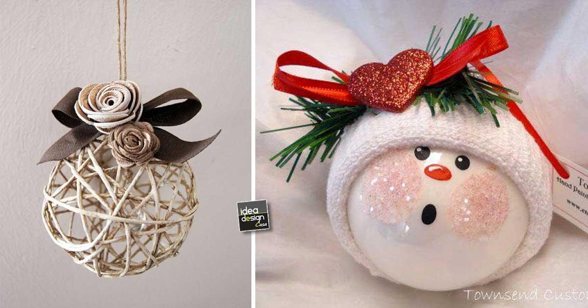 Immagini Sfere Natalizie.Palline Di Natale Originali 20 Idee Per Decorare L Albero