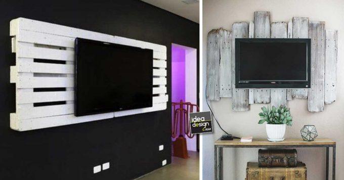 Cornice Porta Tv Fai Da Te.Porta Tv Fai Da Te Con Pallet Ecco 15 Idee Da Cui Ispirarsi