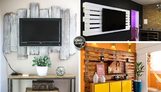 idee porta tv : ... porta tv fai da te con pallet ecco 15 idee da cui ispirarsi porta tv