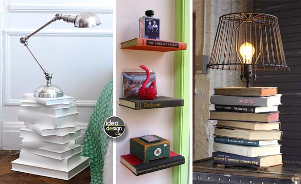 Riciclo creativo libri 28 idee da copiare - Idee da copiare per arredare casa ...