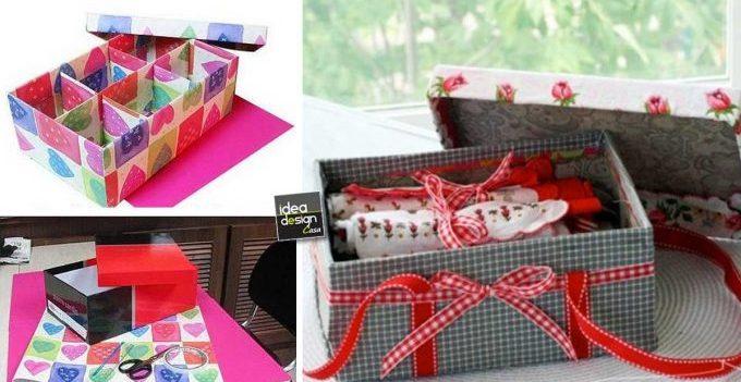 Riciclo scatole di scarpe 16 idee creative da copiare for Scatole fai da te