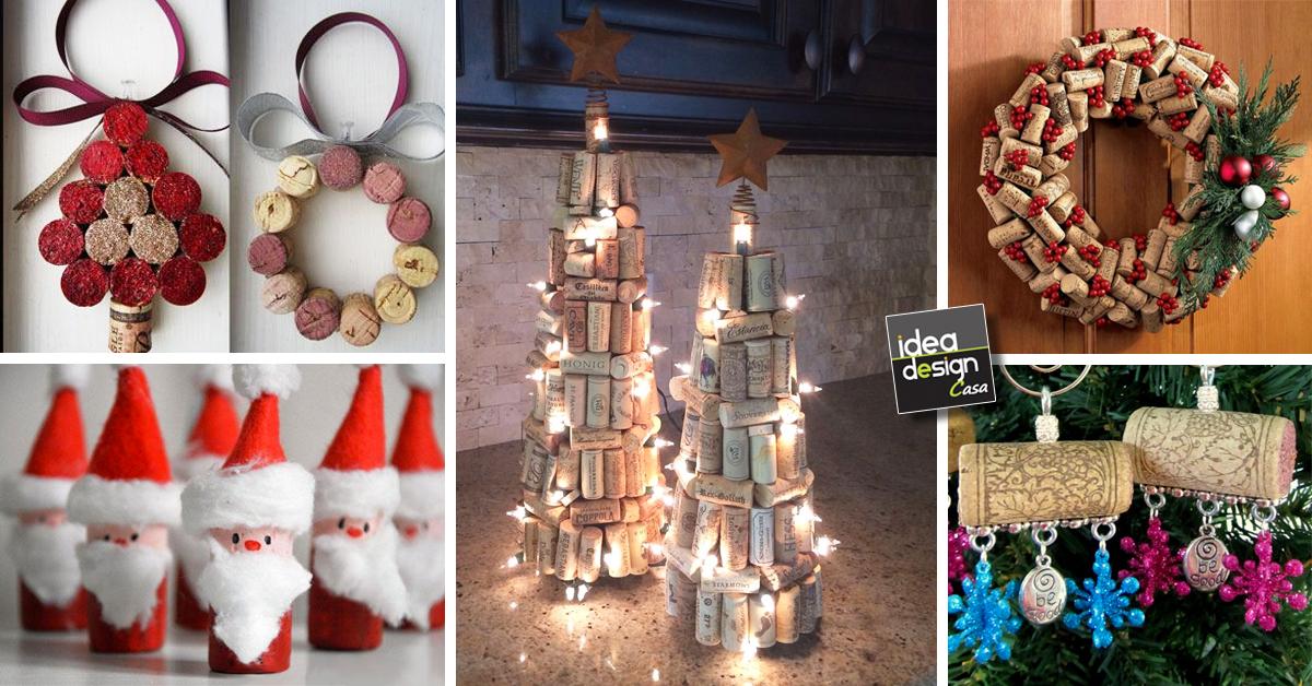Decorazioni natalizie con tappi di sughero 15 idee - Come decorare un barattolo ...
