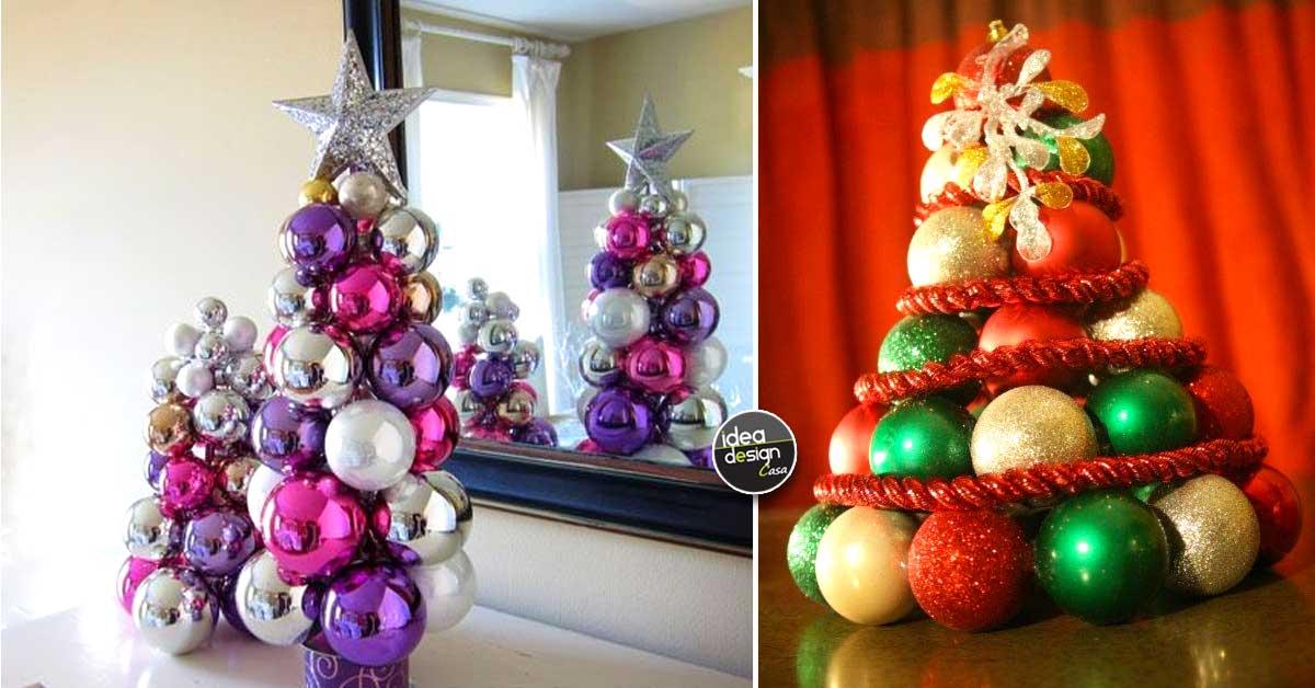 Creare Palline Di Natale Con Foto.Albero Con Palline Di Natale 18 Idee Da Cui Trarre Ispirazione