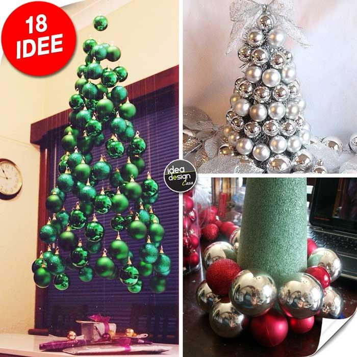 Natale Idea.Albero Con Palline Di Natale 18 Idee Da Cui Trarre