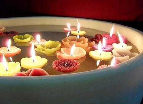 candele in acqua 2