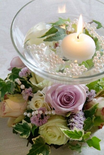Candele in acqua fai da te ecco 20 idee bellissime a - Decorazioni con candele ...
