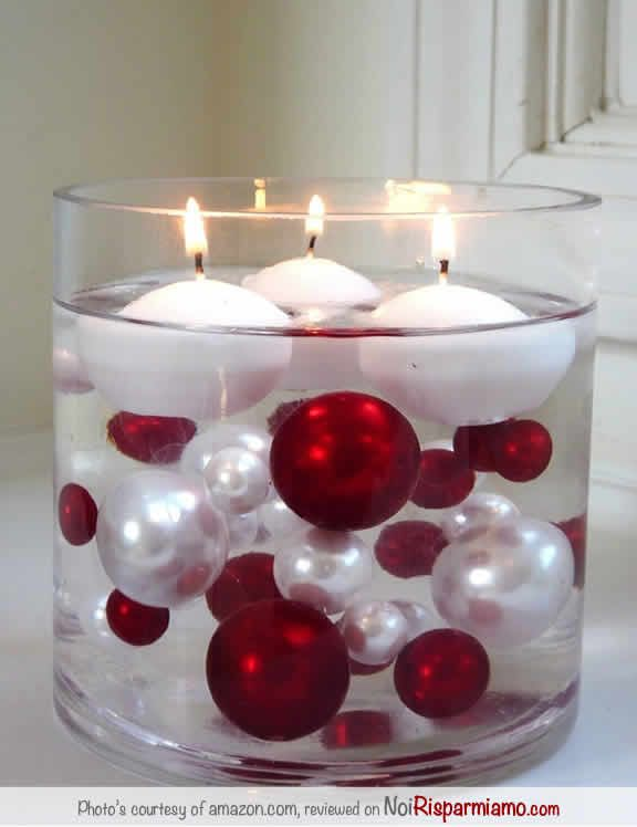 Candele in acqua fai da te ecco 20 idee bellissime a cui ispirarsi - Portacandele natalizi fai da te ...