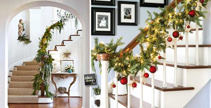 Decorate the stairs for christmas! 20 ideas to inspire