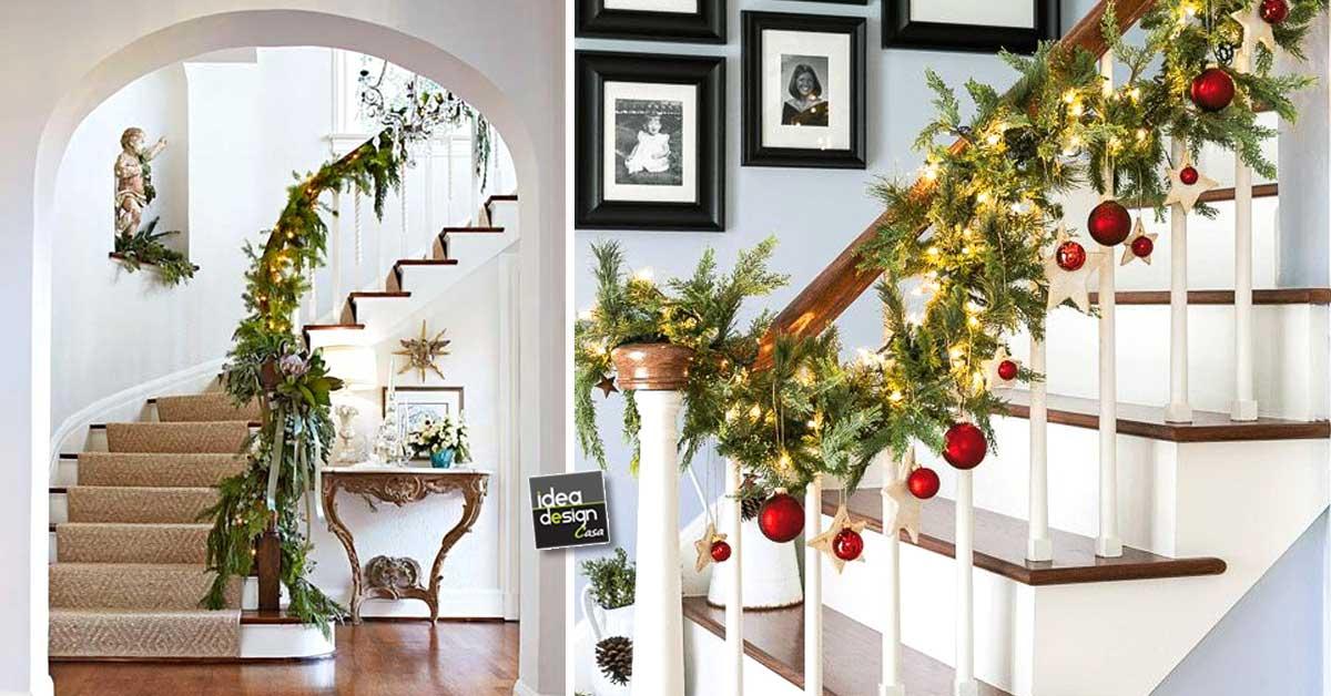 Decorare le scale per natale 20 idee a cui ispirarsi - Decorare finestre per natale ...