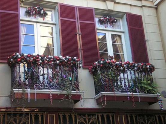 decorazione balcone natale 11