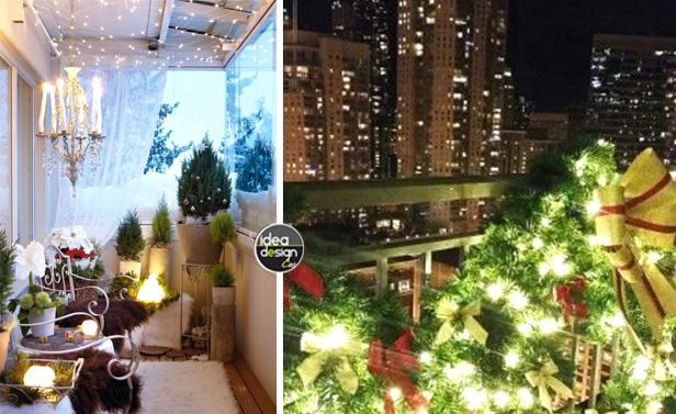 Decorazioni Per Terrazze Fai Da Te : Decorare il balcone per natale idee da cui ispirarsi