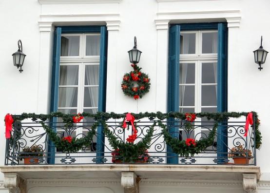 decorazione balcone natale 9