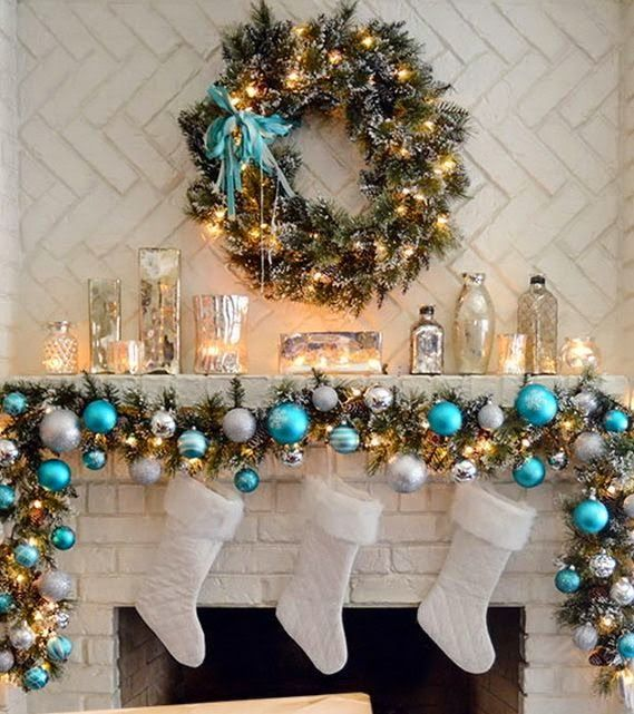 christmas fireplace decoration 14