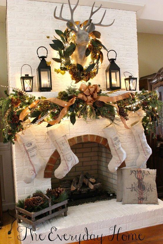 Decorazioni Natalizie Sul Camino.Decorare Il Camino Per Natale 20 Idee A Cui Ispirarsi