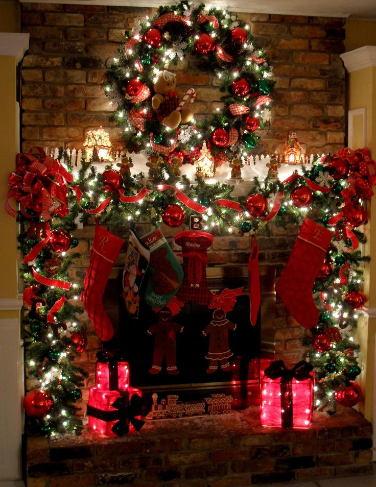 Decorate your fireplace for Christmas! 20 ideas to inspire ...