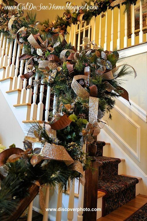 decorazione scale natale 14