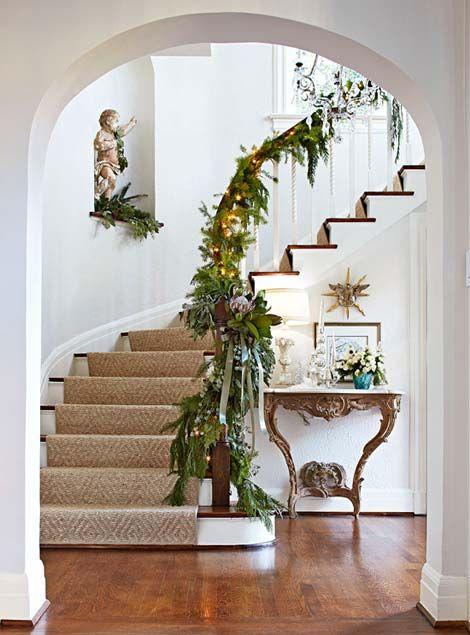 decorazione scale natale 16