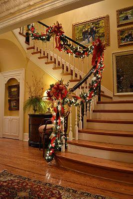 decorazione scale natale 20