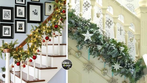 Decorare le scale per natale 20 idee a cui ispirarsi - Decorazioni pareti scale interne ...