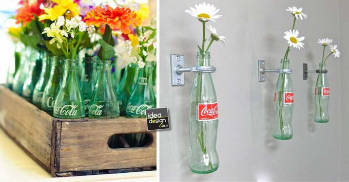 Riciclare bottiglie coca cola di vetro 20 idee originali - Bottiglie vetro decorate ...