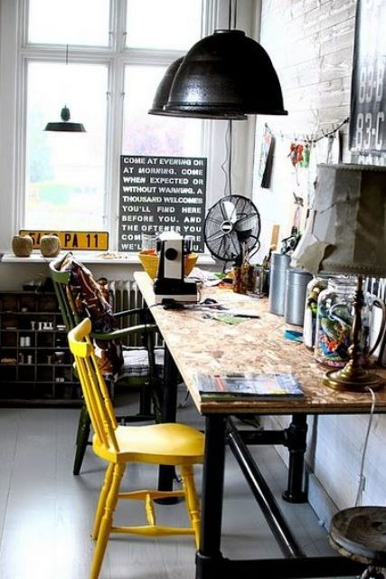 aarredamento industriale arredare casa : Arredo ufficio in stile industriale! 26 idee... Lasciatevi ispirare.