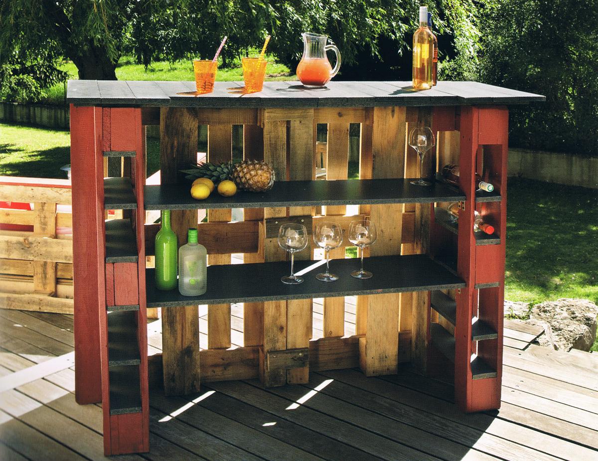 Angolo bar con pallet ecco 20 idee da cui trarre - Idea design casa ...
