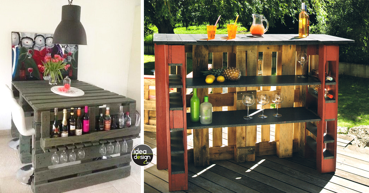 Bancone bar con pallet yx53 pineglen for Arredamento da interni