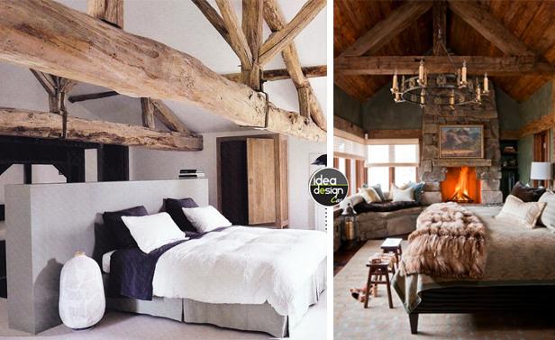 Travi in legno in camera da letto ecco 20 esempi for 20 piani di casa camera da letto