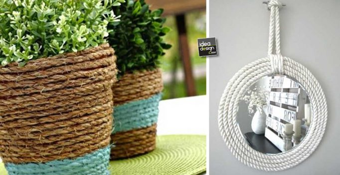 Arredamento Con Corda : Fai da te con la corda ecco idee creative