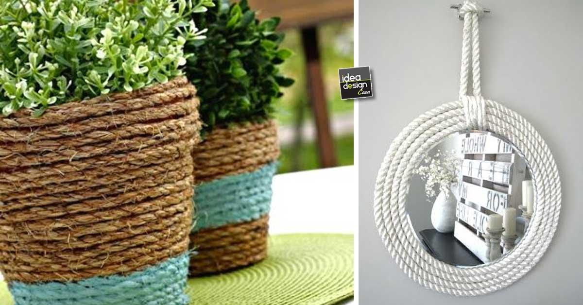 Fai da te con la corda ecco 20 idee creative - Giare da giardino ...